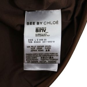 See By Chloe Tops - See by Chloe Short Sleeve Pullover Leather Shirt
